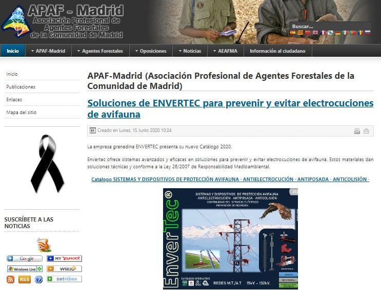 A.P.A.F.  MADRID y su labor en pro de la defensa de nuestra Avifauna amenazada .