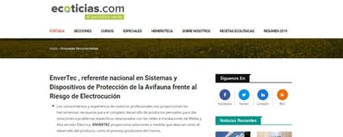 ENVERTEC S.L. , empresa recomendada por Ecoticias.com , el periódico verde.